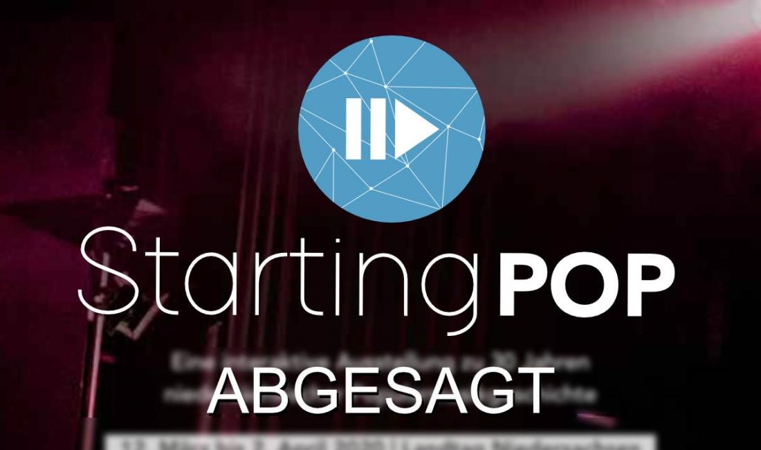 "Ausstellung ""Starting Pop"" abgesagt"